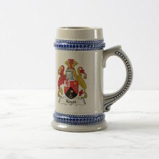 Escudo de la familia de Keyes Taza De Café