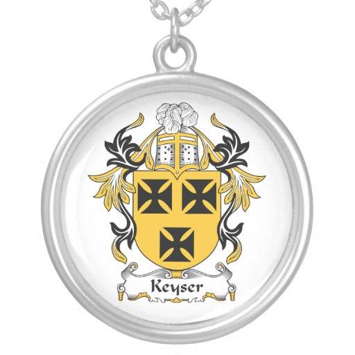Escudo de la familia de Keyser Colgante Redondo