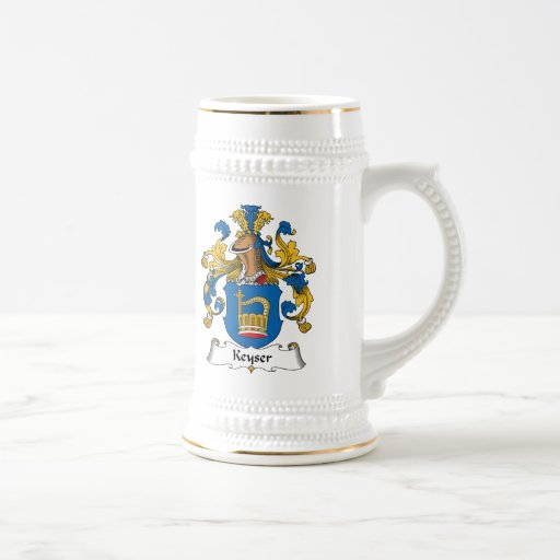 Escudo de la familia de Keyser Jarra De Cerveza