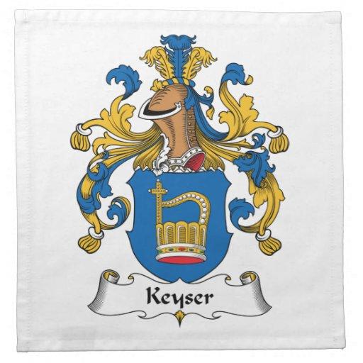Escudo de la familia de Keyser Servilletas De Papel