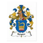 Escudo de la familia de Keyser Tarjetas Postales