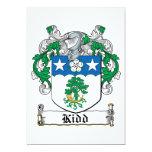 Escudo de la familia de Kidd Invitación 12,7 X 17,8 Cm