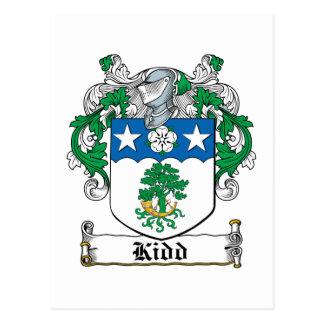 Escudo de la familia de Kidd Tarjetas Postales