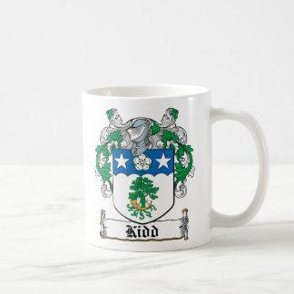 Escudo de la familia de Kidd Tazas De Café