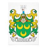 Escudo de la familia de Kidder Invitación