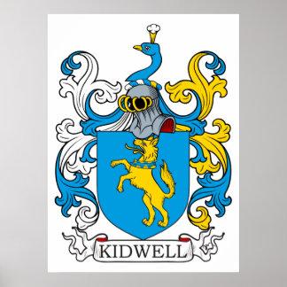 Escudo de la familia de Kidwell Póster