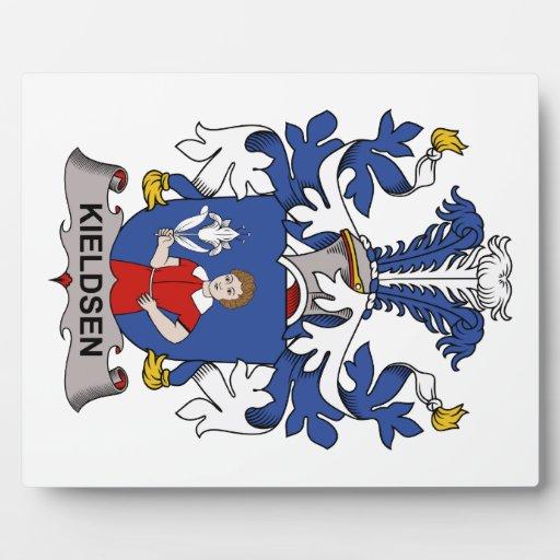 Escudo de la familia de Kieldsen Placa De Plastico