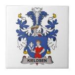 Escudo de la familia de Kieldsen Tejas Cerámicas