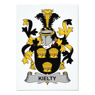 Escudo de la familia de Kielty Invitación 12,7 X 17,8 Cm
