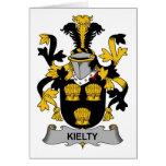 Escudo de la familia de Kielty Tarjetas