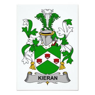 Escudo de la familia de Kieran Invitación 12,7 X 17,8 Cm