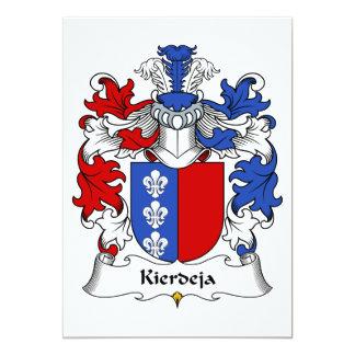 "Escudo de la familia de Kierdeja Invitación 5"" X 7"""