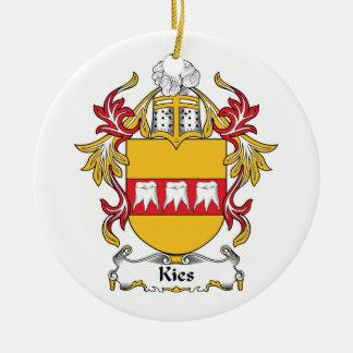 Escudo de la familia de Kies Adorno Redondo De Cerámica