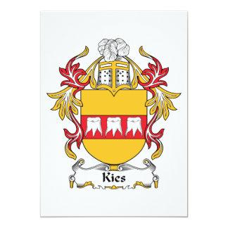 """Escudo de la familia de Kies Invitación 5"""" X 7"""""""
