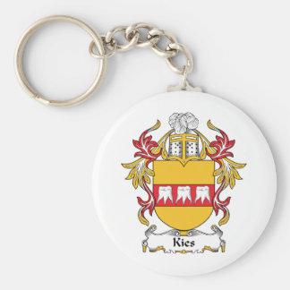Escudo de la familia de Kies Llavero Redondo Tipo Pin