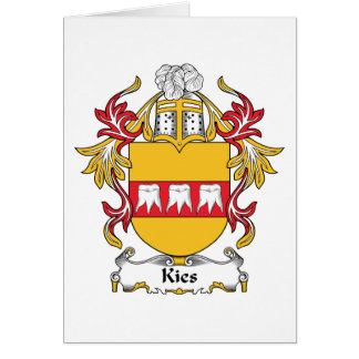 Escudo de la familia de Kies Tarjeta De Felicitación