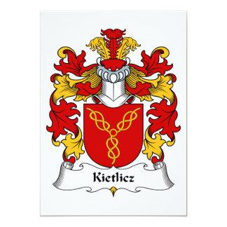 """Escudo de la familia de Kietlicz Invitación 5"""" X 7"""""""