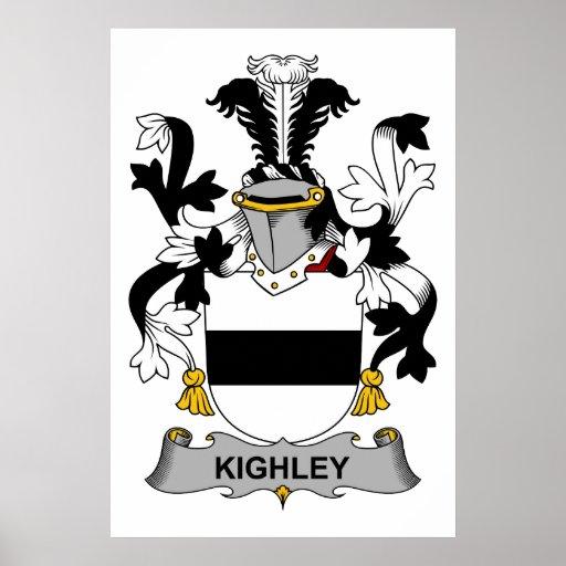 Escudo de la familia de Kighley Posters