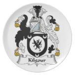 Escudo de la familia de Kilgour Plato De Comida