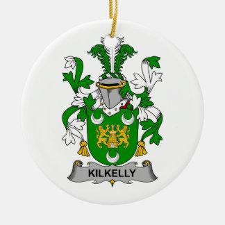 Escudo de la familia de Kilkelly Ornamentos De Navidad