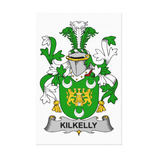 Escudo de la familia de Kilkelly Lona Envuelta Para Galerías