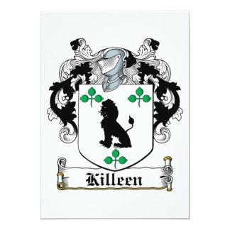 """Escudo de la familia de Killeen Invitación 5"""" X 7"""""""