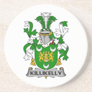 Escudo de la familia de Killikelly Posavasos Personalizados