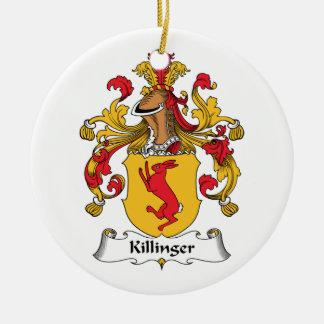 Escudo de la familia de Killinger Adorno Redondo De Cerámica