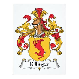 """Escudo de la familia de Killinger Invitación 6.5"""" X 8.75"""""""