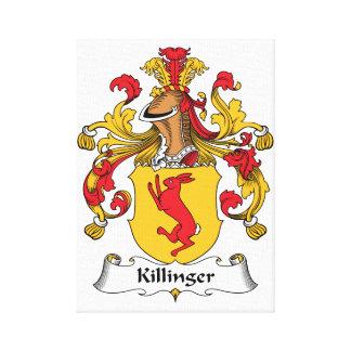Escudo de la familia de Killinger Lona Envuelta Para Galerías