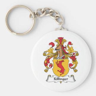 Escudo de la familia de Killinger Llavero Redondo Tipo Pin