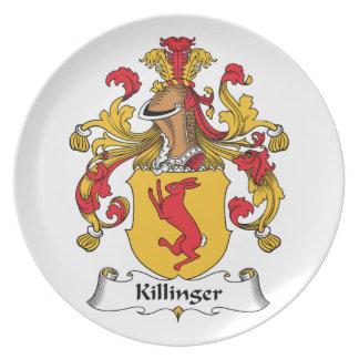 Escudo de la familia de Killinger Plato De Cena