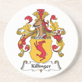 Escudo de la familia de Killinger Posavasos De Arenisca