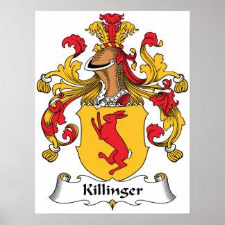 Escudo de la familia de Killinger Póster