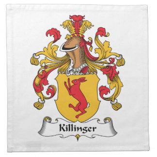 Escudo de la familia de Killinger Servilletas Imprimidas