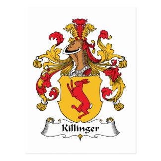 Escudo de la familia de Killinger Tarjetas Postales