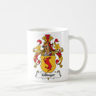 Escudo de la familia de Killinger Taza Básica Blanca