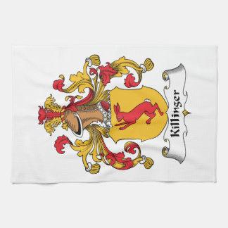 Escudo de la familia de Killinger Toalla De Mano