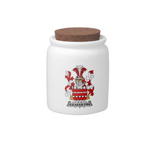 Escudo de la familia de Kilmartin Jarra Para Caramelo