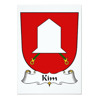 """Escudo de la familia de Kim Invitación 5"""" X 7"""""""