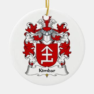Escudo de la familia de Kimbar Adorno Redondo De Cerámica