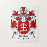 Escudo de la familia de Kimbar Rompecabezas