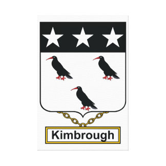 Escudo de la familia de Kimbrough Impresion En Lona