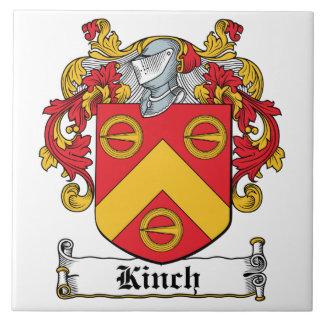 Escudo de la familia de Kinch Azulejo Cerámica