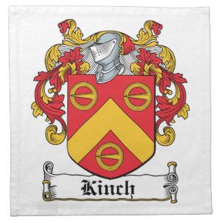 Escudo de la familia de Kinch Servilleta Imprimida