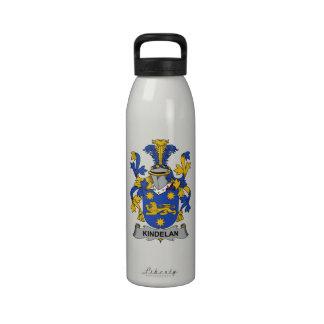 Escudo de la familia de Kindelan Botella De Agua Reutilizable