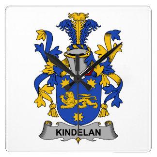 Escudo de la familia de Kindelan Reloj De Pared