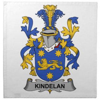 Escudo de la familia de Kindelan Servilletas Imprimidas