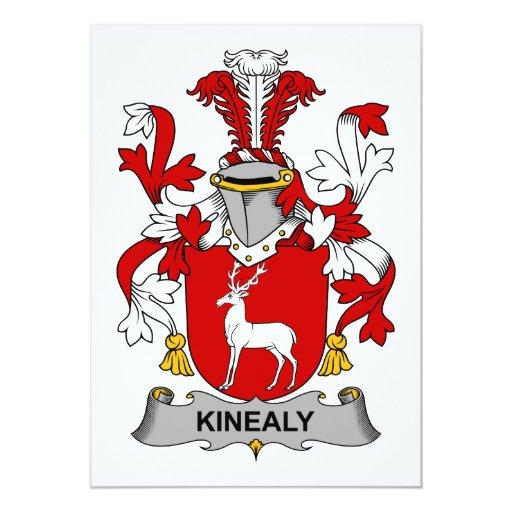 Escudo de la familia de Kinealy Invitación Personalizada