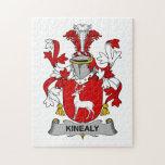 Escudo de la familia de Kinealy Rompecabezas Con Fotos